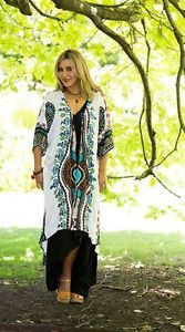 NWT-Boho-Hippy-Chic-Beaded-TRIBAL-Jacket-Kimono-Gypsy-Bohemian-Hippie-FS-8-22