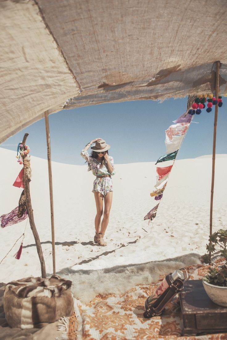 White Dunes ✧ Gypsy Hues Spell & the Gypsy Collective May/June lookbook photography Johnny Abegg model Rachel Rutt hair Luciana Rose make up Ashlea Penfold