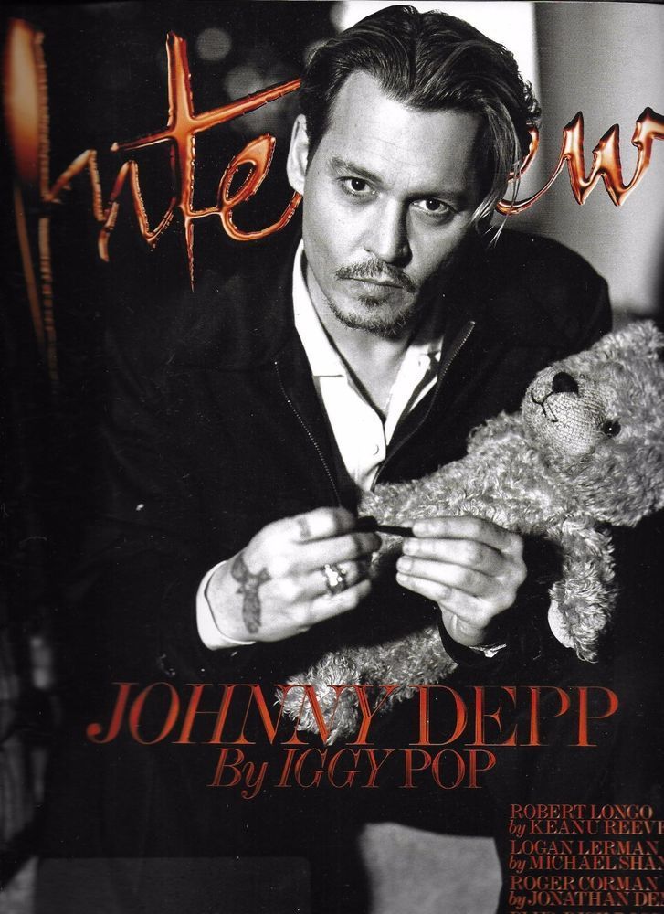 Interview magazine Johnny Depp Robert Longo Logan Lerman Sky Ferreira Fashion