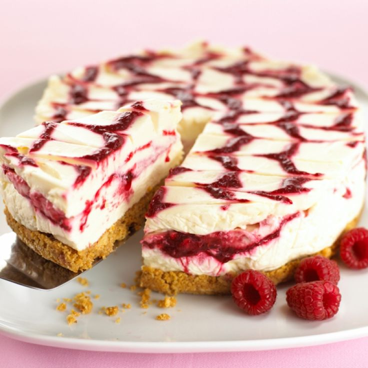 Cheesecakes are always a popular dessert and this pretty raspberry swirl cheesecake will be well enjoyed.. Raspberry Swirl Cheesecake Recipe from Grandmothers Kitchen.