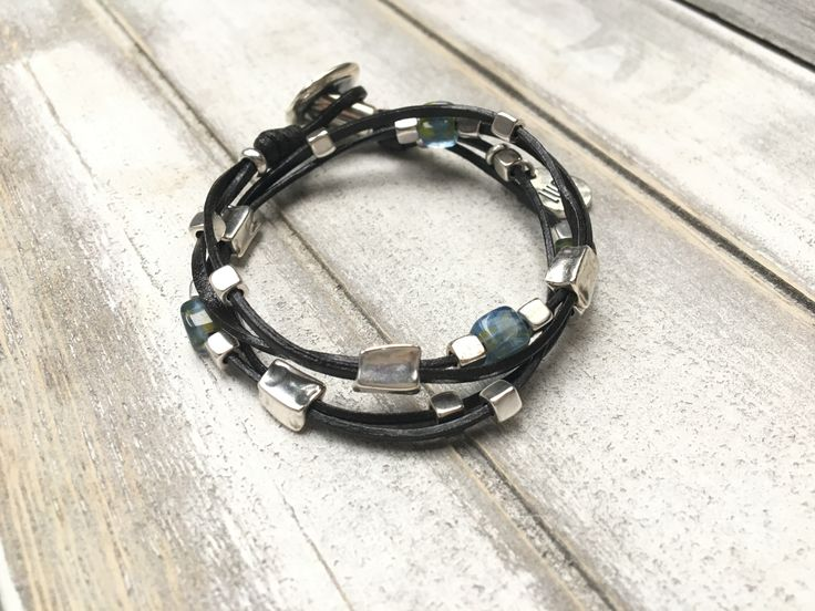 Leather Wrap, Boho Bracelet