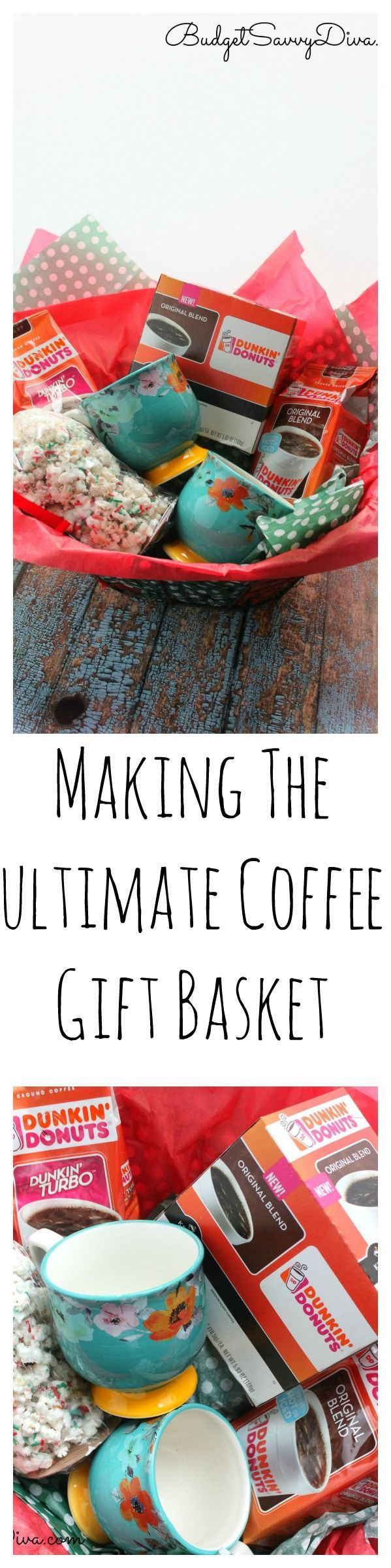 My husband loves coffee. I mean LOVES Dunkin' Donuts® Coffee – he seriously does not function till his 2 cups of coffee. We were trying to come up with an idea