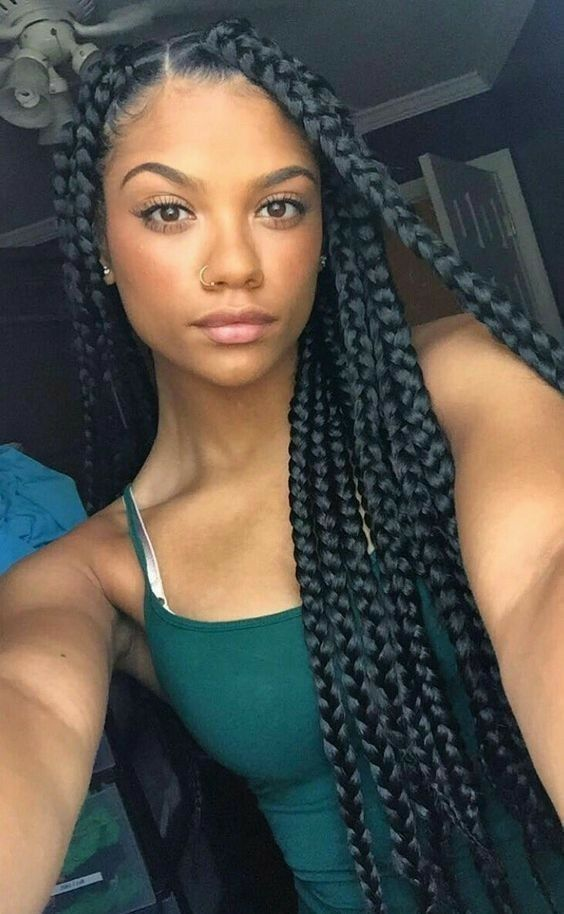 Long Box Braids Styles Picture 42 chunky cool jumbo box braids styles in every length Long Box Braids Styles. Here is Long Box Braids Styles Picture for you. Long Box Braids Styles 121 sophisticated jumbo box braids styles for you. Blonde Box Braids, Black Girl Braids, Girls Braids, Thick Box Braids, Box Braid Hair, Large Box Braids, Braided Hairstyles For Black Women, Girl Hairstyles, Big Box Braids Hairstyles