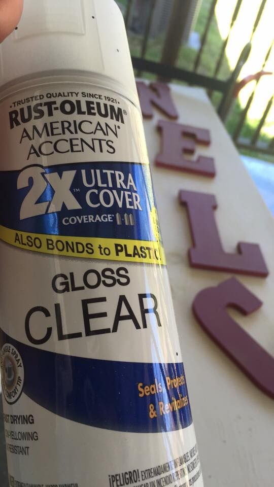 Kate Green says to use this when applying vinyl to wood, to make sure the vinyl sticks. She says: 1. Spray the wood first, after paint or stain 2. Apply all vinyl layers 3. Spray again once or twice. Vinyl used: I use orcal 651.