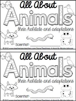 This 33-page science mini-book was created to help teach the Next Generation Science Standards for 2nd grade in interdependent relationships in ecosystems.It covers the following principles: the different classes of animals, what is a habitat, what are adaptations, and the following habitats: forest, tropical rain forest, desert, ocean, wetlands, grassland, polar regions, and Australian outback.