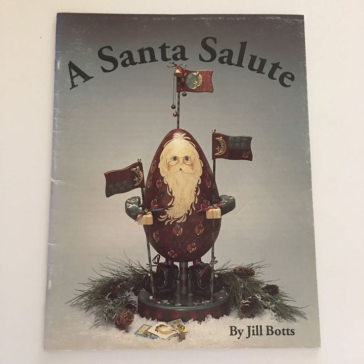 A Santa Salute Jill Botts Christmas Tole Decorative Painting Cowboy Sheriff 1993 #JillBotts #DecorativePainting