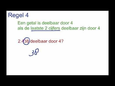 M1.2 regels voor deelbaarheid - YouTube