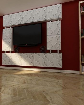 3d wall mounted tv stand models, affordable prices, light weihgt, paintable and DIY products.