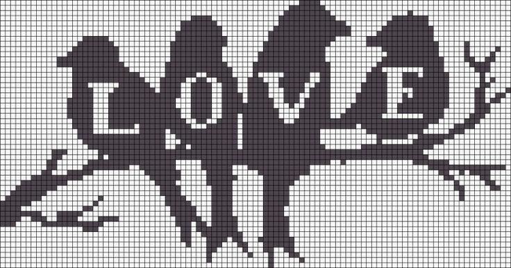 LOVE perler bead pattern