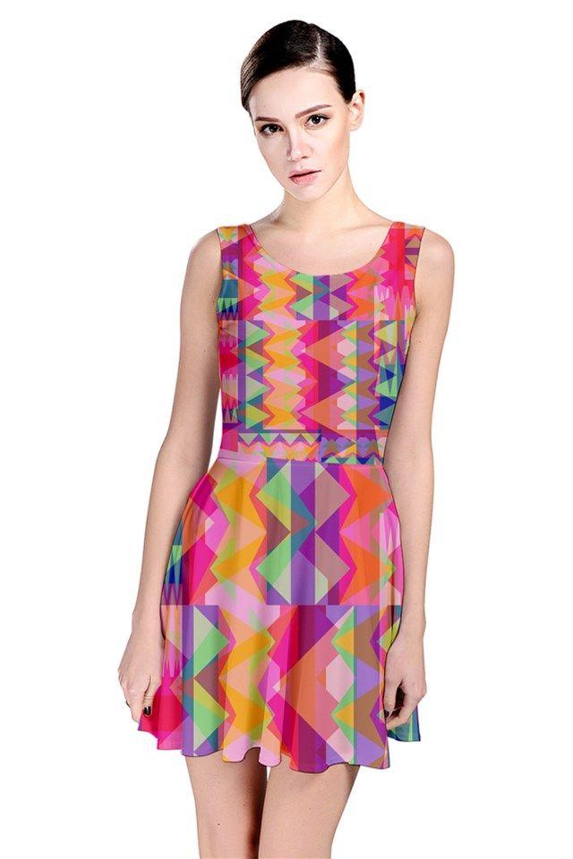 Triangle Fun_MirandaMol Skater Dress #pinkcess #mirandamol #fashion #cool #dress #summer #pinkcess #pinkcessfashion #pnkx