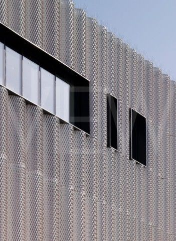 THE QUARTERHOUSE FOLKESTONE ALISON BROOKS ARCHITECTS FACADE PERFORATED STEEL