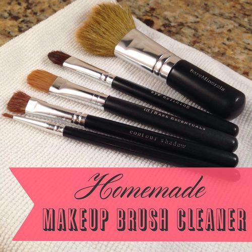 Stop overpaying for makeup brush cleaner. This homemade makeup brush cleaner is so easy. It only takes two ingredients.