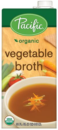 Organic Vegetable Broth - Pacific Foods | Vegetarian Diet, Vegan Diet, Low Fat, Fat Free, Gluten Free, Dairy Free, Soy Free, Wheat Free, Yea...