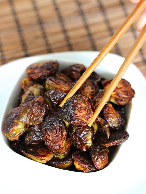 Crispy Asian Brussels Sprouts-copycat Uchi recipe! Delicious.  A little too much sauce, but wonderful!