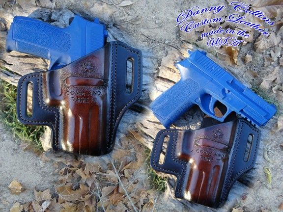 Feel free to contact me if you would like to have a custom holster built. SIG P2022 holster, Leather holster, OSW holster, Custom holster.