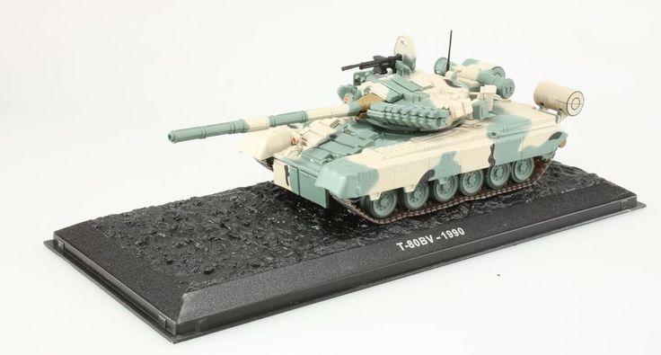 (V194) Miniature T-80 BV 1990 1/72 Chasse légendaire et char de combat