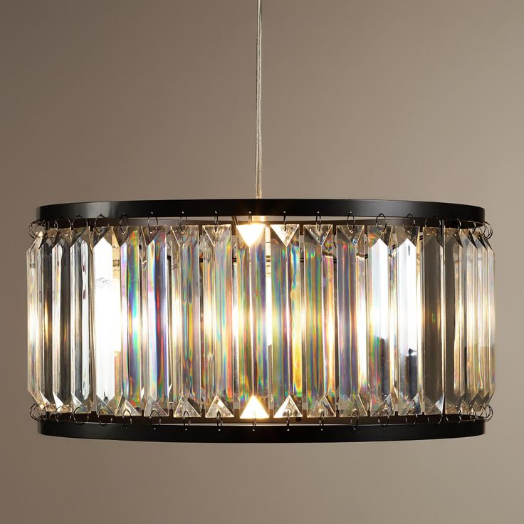 acrylic drum pendant lamp world market drum forcrystal hardware