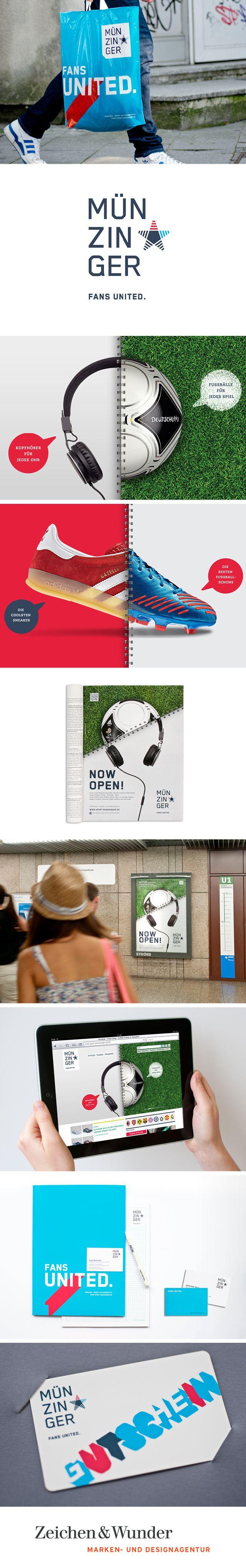 SPORT MÜNZINGER / Relaunch des Markenauftritts / #Corporate #Design #Sportswear #POS / by Zeichen & Wunder, München