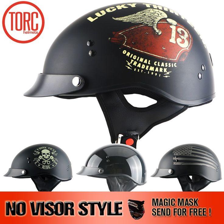 Wholesale prices US $49.99  TORC BRAND new Harley helmet no visor Classic Vintage jet Half Face Motorcycle Helmet Casco Casque Moto Retro Helmets DOT T55.02  #TORC #BRAND #Harley #helmet #visor #Classic #Vintage #Half #Face #Motorcycle #Helmet #Casco #Casque #Moto #Retro #Helmets  #automotive
