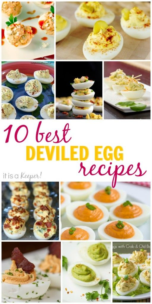 These 10 Best Deviled Egg Recipes are not your mama's deviled eggs. These have bacon, sriracha, crab and roasted red peppers.