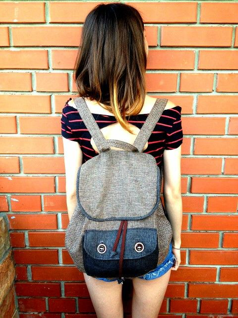 Backpack diy handmade