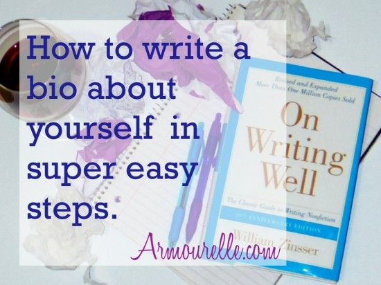 how to write a bio about yourself template free