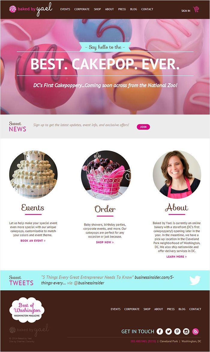 Cupcake Website Design Inspiration
