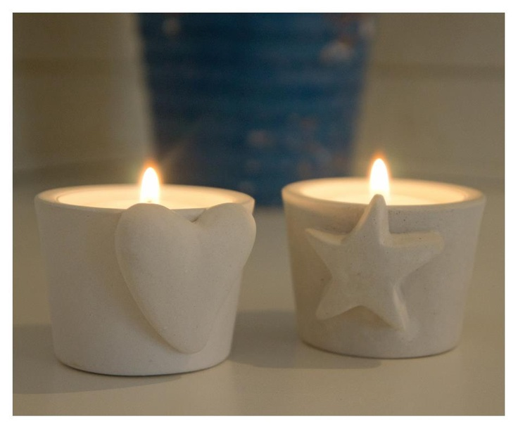 New uppcoming candle holders. Star and heart. Both candle holders got place for tealights and ordenary candles.  The mold for these are in silicon with 2 years warranty