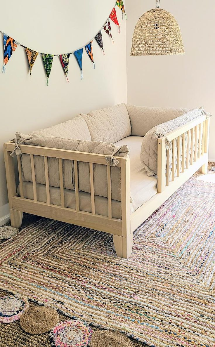USA made Full or Twin Montessori Floor Bed to Raised Bed