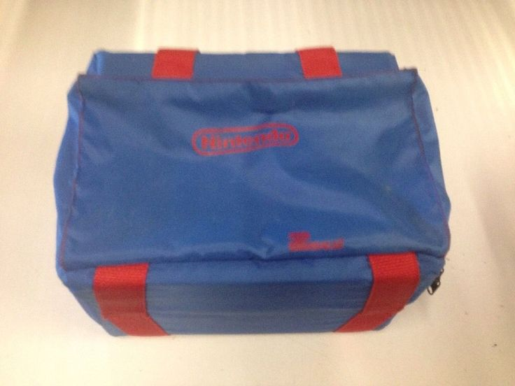 Nintendo Z-Bag NES System Console Travel Carrying Case Blue Official #Nintendo