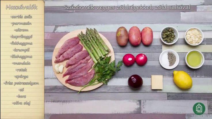Chefbag - Szűzérmék vegyes zöldségekkel, zöld salsával