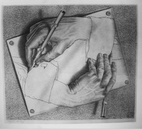 M.C. Escher Drawing Hands