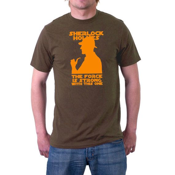 EXCLUSIVE DESIGN. A long time ago in a city (London) far, far away ... #Sherlock #Holmes would have been a great adversary of Darth Vader. No-one displays traits of the force... #retro #1970s #empire #stormtrooper #cinema #movie #funny #sherlock #holmes #moriarty #jedi ➡️ http://etsy.me/2vaVJli