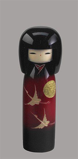 Kokeshi Puppen Original Japan Holzpuppe Japanpuppe Holzfigur Geisha wood doll