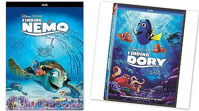 2 PACK - Finding Dory + Finding Nemo (DVD, 2016) ANimation, Kids FAST SHIPPING !