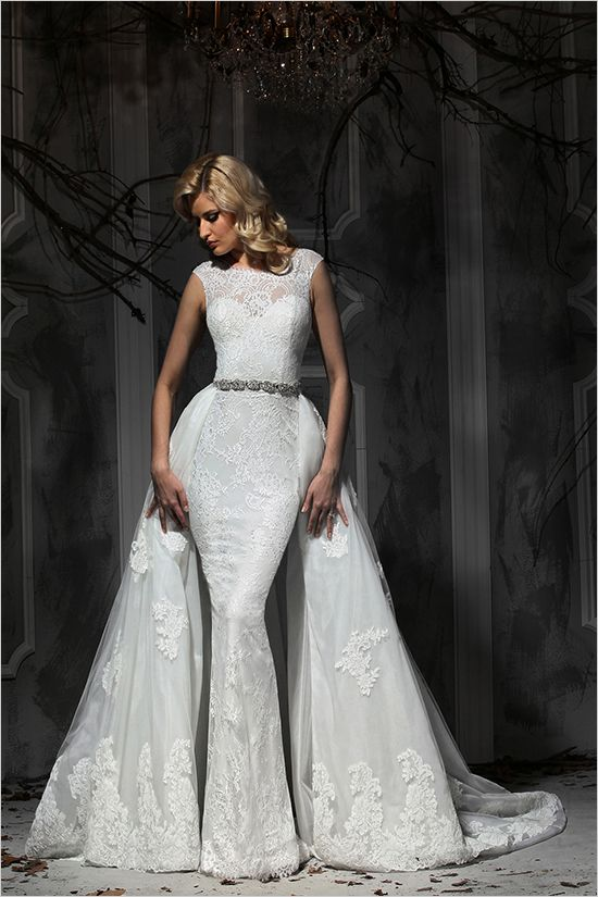 Convertible wedding dresses from the brand new Impression Bridal collection. @weddingchicks