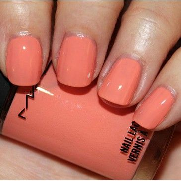Coral Nails bridesmaids this is the new in color of the season!