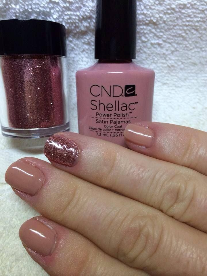 Cnd Shellac Satin Pajamas Nails Pinterest Cnd