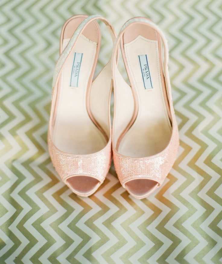 Blush Pink Sequin Shoes P Toe Sling Back By Prada See The Wedding