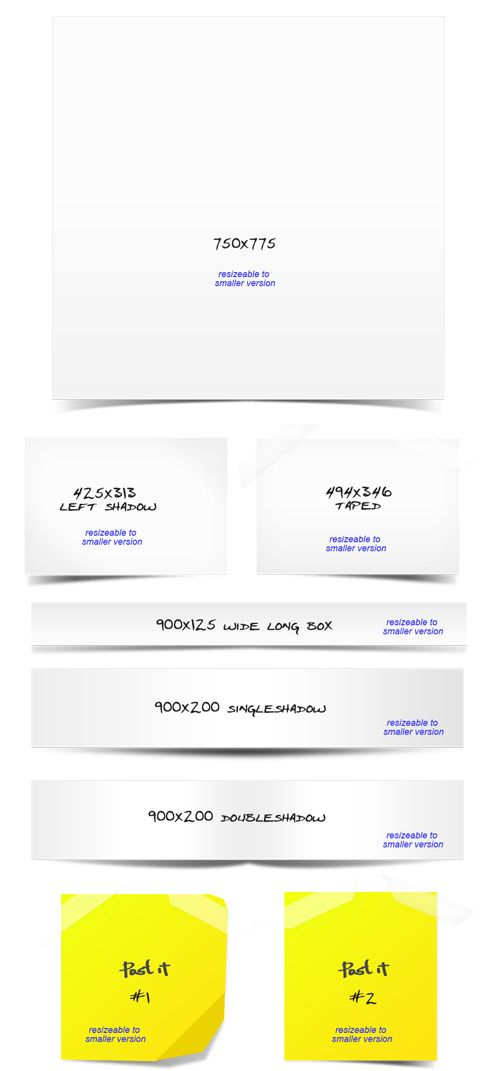 Paper Boxes With Shadows PSD