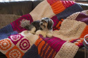 Crochet along Patchwork Decke Tamura myboshi