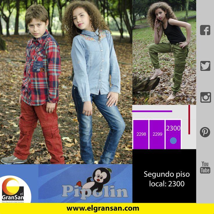 #MarcaDelDía: Pipolin Encuentra lo mejor en ropa para niños, desde la talla cero a junior. Te esperamos. Solo en el #GranSan, local: 2300, tel: 3423596, cel: 3152953234 #ColombianoCompraColombiano #SoyCapaz de creer en mi país!