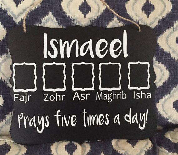 Muslim kid's prayer chart // salah tracker // five by RamadanMoon