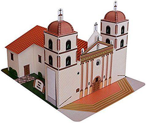 how to draw santa barbara mission