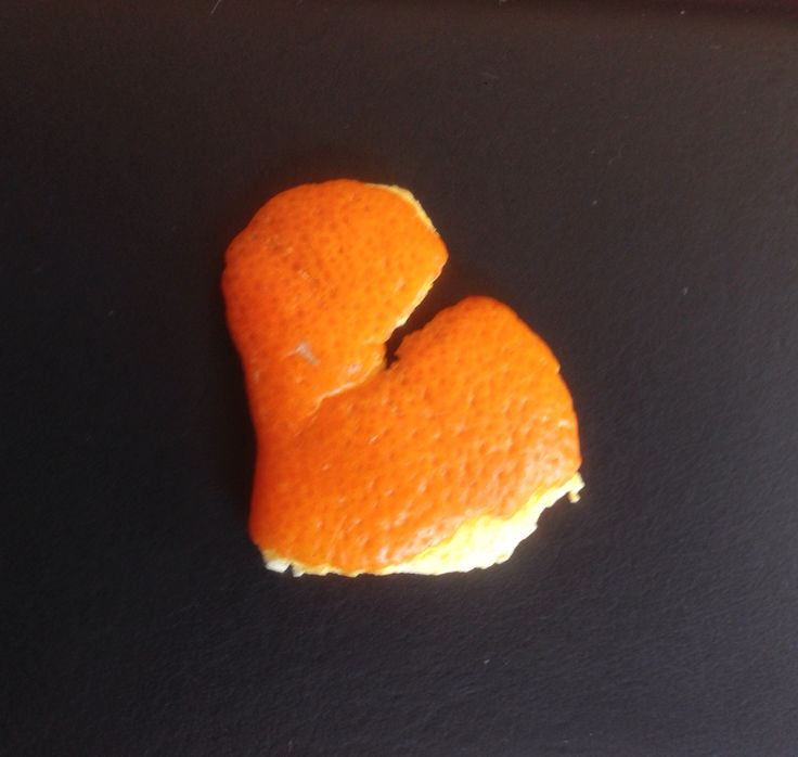 ...in a small piece of orange peel.