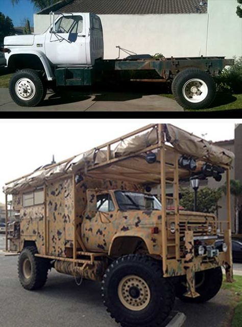 The Survivor Truck Bug Out Vehicle - Regular truck turned into a beast! Like this idea. Buy a good, solid, strong truck, customize from there.