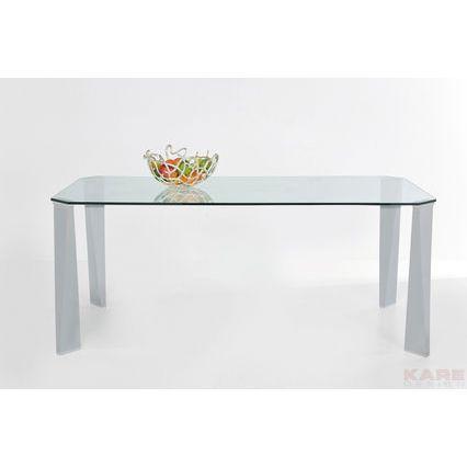 Τραπέζι Modern Times 160x90 Τραπέζι σε μοντέρνο design με ανοξείδωτα πόδια και γυαλί ασφαλείας 12mm.