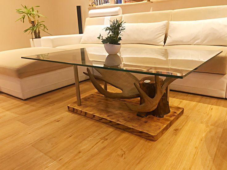 Designer wohnzimmertisch ~ Besten geweih designer couchtisch antler table chalet