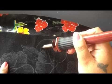 Pintura en tela carpeta pirograbada # 1 con cony