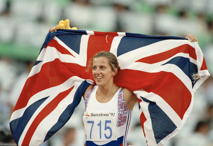 Sally Gunnell at the 1992 Barcelona Olympic Games.